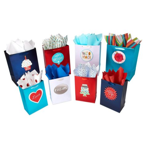 "American Greetings ""Design Your Own"" Gift Bag, Tissue Paper and Adhesive Attachment Kit"