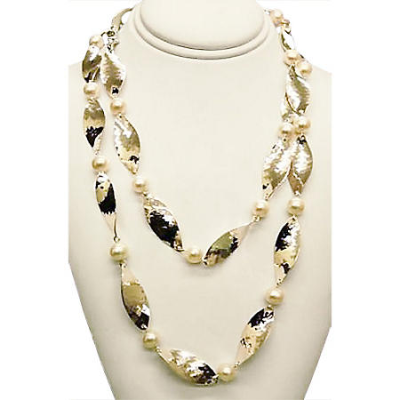 925 NECKLACE MARQUIS PEARL MULTI