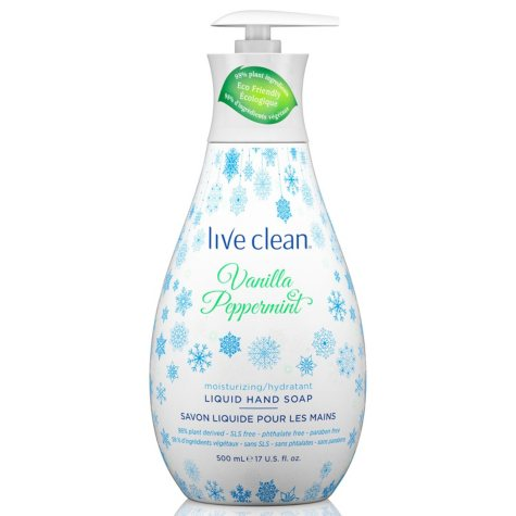 Live Clean Holiday Hand Soap, Vanilla Peppermint (17 oz.)