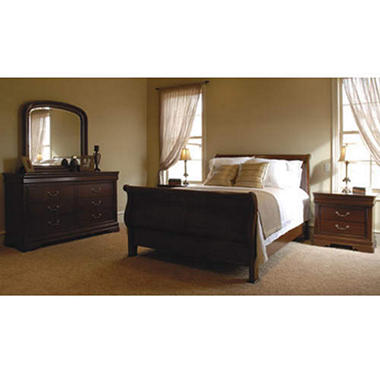 Louis Philippe Bedroom Set - 5 pc. - Queen - Sam\'s Club