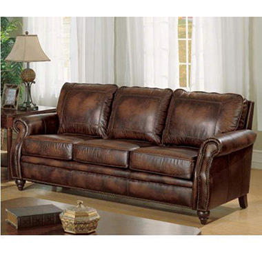 Maybury Top Grain Leather Sofa - Sam'S Club