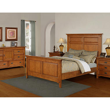 Canyon 4 Piece Mission Bedroom Set  King Sam s Club