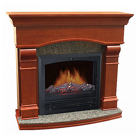 Electric Fireplace With 47 Quot Mantle Sam S Club