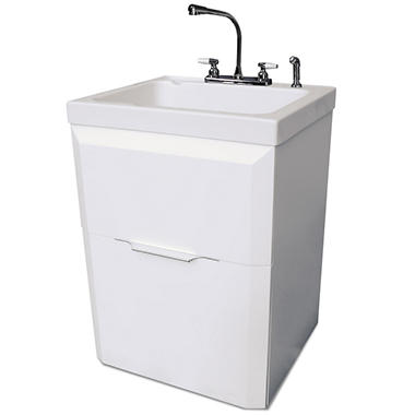 Utility Sink Faucet And Cabinet