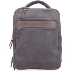 Renwick Canvas Backpack with Genuine Leather Trim 7b7ef82eb970f