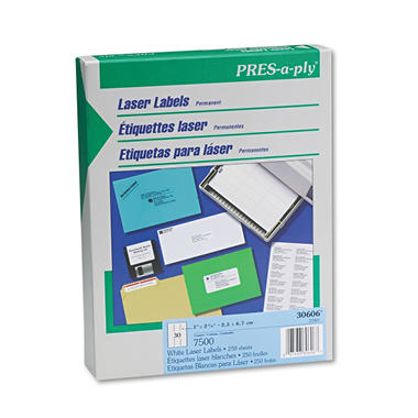 Avery Pres-A-Ply - Laser Address Labels, 1 x 2-5/8