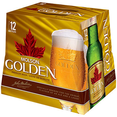 Molson Golden Premium Beer (12 fl. oz. bottle, 12 pk.)