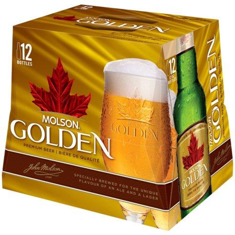 Molson Golden Premium Beer (12 fl. oz. bottle, 12 pk.)