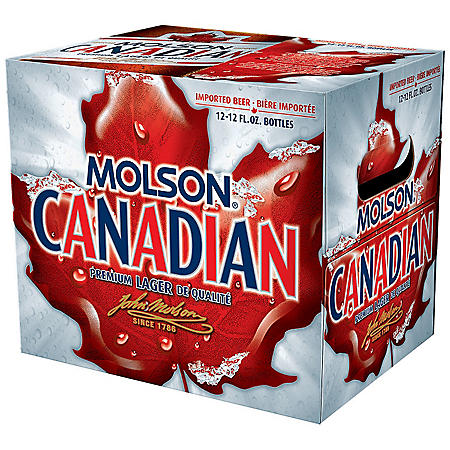 MOLSON CANADIAN 12 / 12 OZ BOTTLES