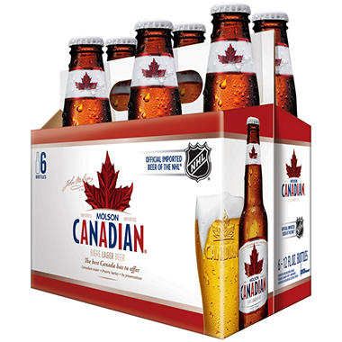 Molson Canadian Lager Beer (12 fl. oz. bottle, 6 pk.)