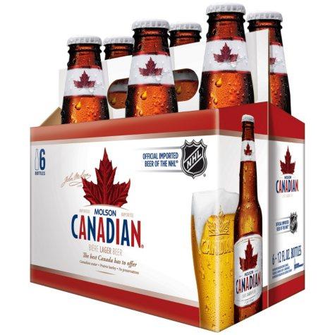 Molson Canadian Lager Beer (12 fl. oz. bottle, 6 pk.)