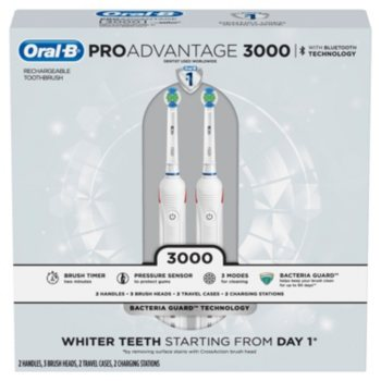 2-Pk. Oral-B PROAdvantage 3000 Electric Rechargeable Toothbrush