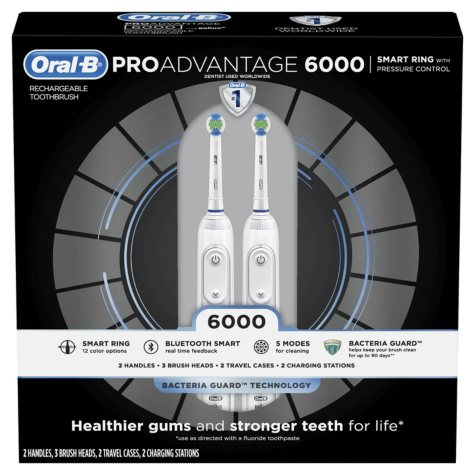 Oral-B ProAdvantage 6000 Power Rechargeable Toothbrush (2 pk.)
