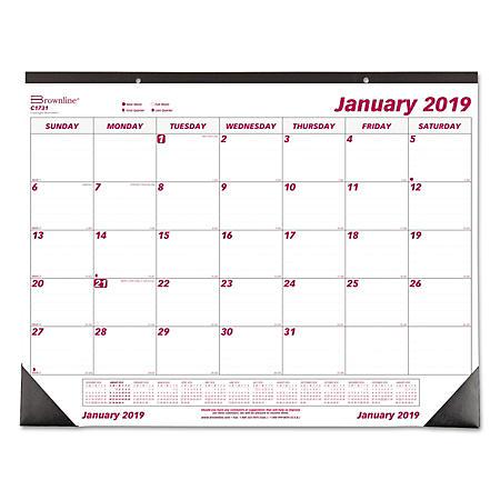 Brownline Monthly Deskpad Calendar, Chipboard, 22 x 17, 2020