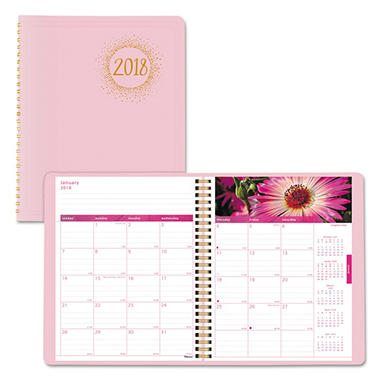 Brownline Pink Ribbon Monthly Planner, 9 1/4
