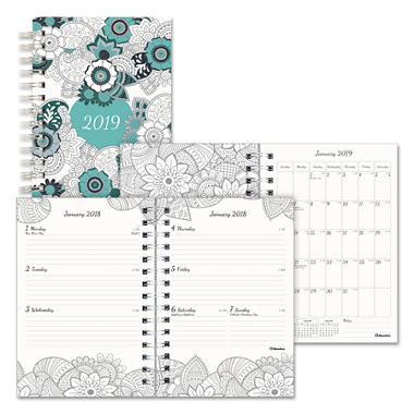 Blueline Doodleplan Weekly/Monthly Planner, 8