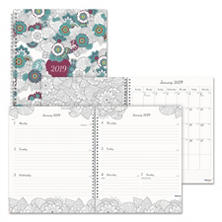 "Blueline Doodleplan Weekly/Monthly Appointment Book, 11"" x 8 1/2"", Botanica"