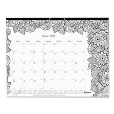 Blueline® Academic Desk Pad Calendar with Coloring Pages, 22 x 17, 2016-2017