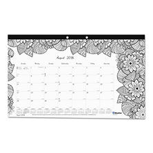 Blueline® Academic Desk Pad Calendar with Coloring Pages, 17 3/4 x 10 7/8, 2016-2017
