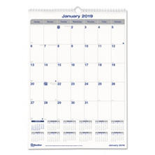 Blueline® Net Zero Carbon Monthly Wall Calendar, 17 x 12, 2018