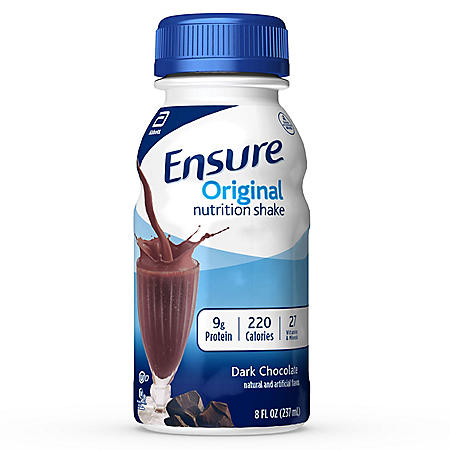 Ensure Original Nutrition Shake, Dark Chocolate (8 fl. oz., 24 ct.)