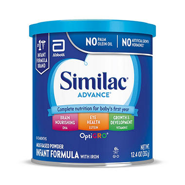 Similac Advance Infant Formula with Iron (12.4 oz., 6 pk.)