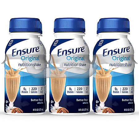 Ensure Original Nutrition Butter Pecan Meal Replacement Shakes with 9g of Protein  (8 fl. oz., 24 ct.)
