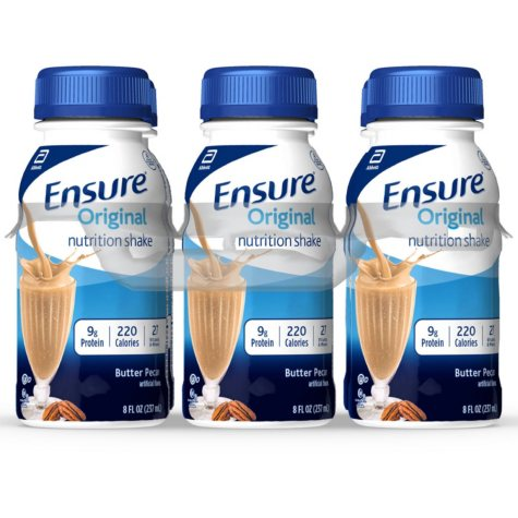 Ensure Original Nutrition Shake Butter Pecan Ready-to-Drink Meal Replacement Shakes (8 fl. oz., 24 ct.)