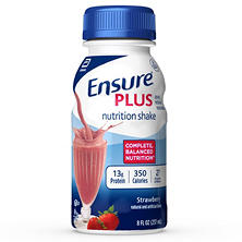 Ensure Plus Nutrition Shake, Strawberry (8 fl. oz., 24 ct.)