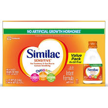 Similac Sensitive Ready to Feed Infant Formula with Iron (32 oz., 8 pk.)