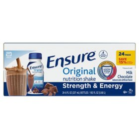 Ensure Original Nutrition Shake Milk Chocolate Ready-to-Drink Meal Replacement Shakes (8 fl. oz., 24 ct.)