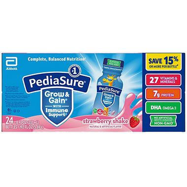 PediaSure Strawberry Shake 8 oz. bottles (24 pk.)