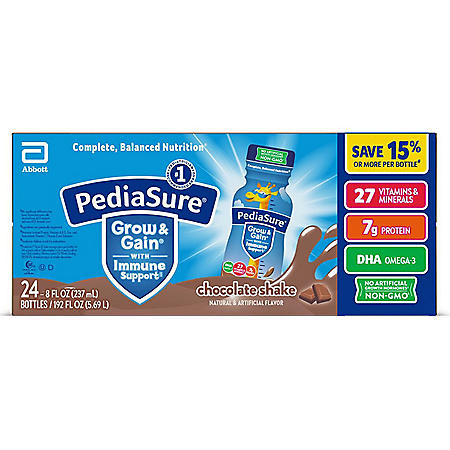PediaSure Grow and Gain Nutrition Shake for Kids, Chocolate (8 fl. oz., 24 pk.)