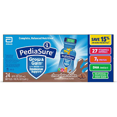 PediaSure Chocolate Shake, 8 oz. bottles (24 pk.)