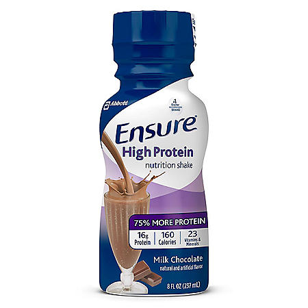 Ensure High Protein Meal Replacement Shakes, Low Fat Milk Chocolate (8 fl. oz., 24 ct.)