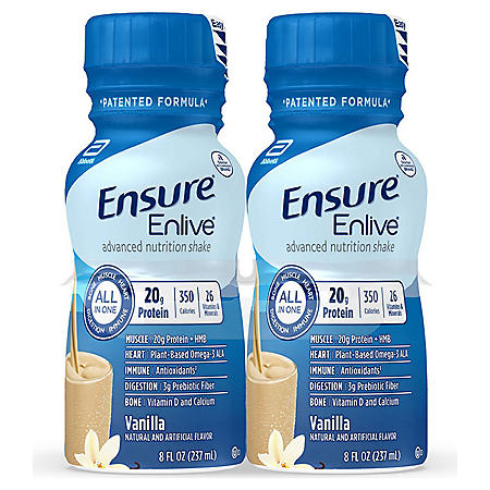 Ensure Enlive Advanced Nutrition Vanilla Meal Replacement Shakes with 20g of Protein (8 fl. oz., 16 ct.) - Sam's Club