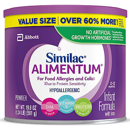Similac Alimentum Hypoallergenic Baby Formula for Food Allergies and Colic (19.8 oz., 4 pk.)