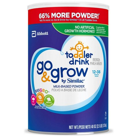 Similac Go & Grow Milk-Based Powder Toddler Drink (40 oz.)