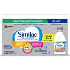 Similac Pro-Advance Ready-to-Feed Infant Formula with 2'-FL Human Milk Oligosaccharide (HMO) (32 fl. oz., 8 pk.)