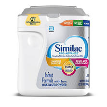 Similac Pro-Advance Powder Infant Formula with Iron , with 2'-FL HMO (34 oz.)