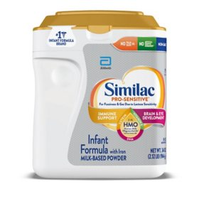 Similac Pro-Sensitive Powder Infant Formula with Iron with 2'-FL HMO (34 oz.)