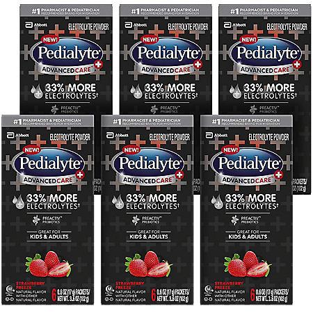 Pedialyte AdvancedCare Plus Electrolyte Powder, 0.6 oz., 36 ct. (Choose Your Flavor)