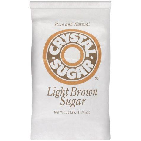 Crystal Sugar Light Brown Sugar - 25 lb.
