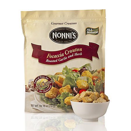 Nonni's - Focaccia Croutons Garlic and Herb - 26 oz.