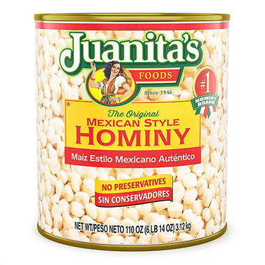 Juanita's Mexican Style Hominy - 105 oz.