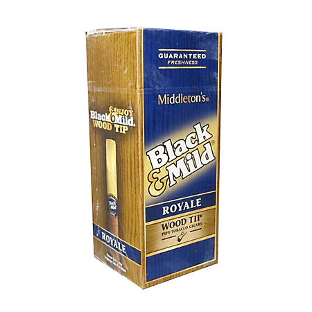Black & Mild Royale Wood Tip Cigars Pre-Marked Price (25 ct.)