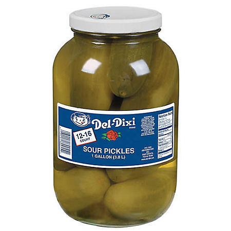 Del-Dixi Sour Pickles - 1 gal. jar