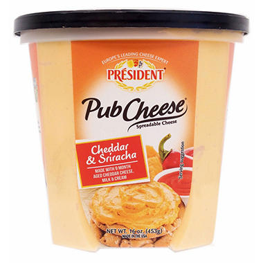 President Pub Cheese Cheddar and Sriracha (16 oz.)