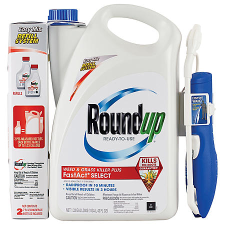 Roundup Ready-To-Use Weed & Grass Killer Plus FastAct Select with Comfort Wand and Roundup Concentrate Weed & Grass Killer Plus FastAct Select - Club Combo