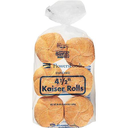 Flowers Foods Kaiser Hamburger Buns (36oz)